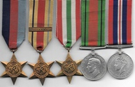Africa Star 1st Army Medal Group South Staffordshire Regiment