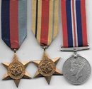 WW2 Africa Star Medal Trio