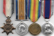 WW1 Royal Navy RFR LSGC Medal Group to Ryan