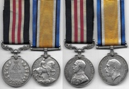 WW1 Military Medal Pair For Sale