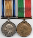 WW1 Mercantile Marine Pair to JOHN P. GRAHAM