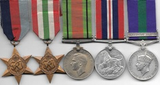 Palestine WW2 GSM Group of 5 to RAF