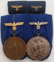WW2 Wehrmacht Long Service Medal Pair